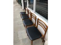 Set of 4 Retro Kitchen /Dining Chairs , in good condition. Free Local Delivery