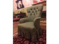 Antique/Vintage Button-back Armchair