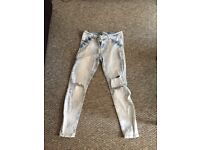 Two pair of ripped new look jeans