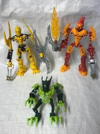 Lego bionicle glatorian legends figures x 3 transformers toy