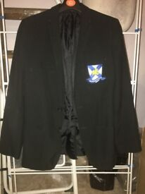 "Boys School Blazer with Wales High School Badge Age 15 chest 35"" from M&S"