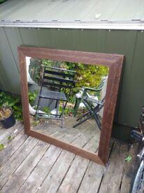 Mirror. Oak effect. 96x96cm
