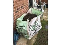 Grass and thatch cuttings for composting