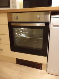 Single Fan Assisted Oven Stainless Steel/Black - Lamona, never used