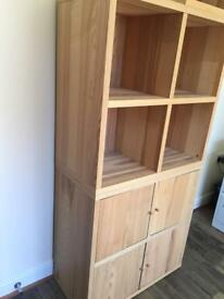 Ikea oak effect storage cubes and chest of drawers to match