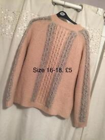 Pink and grey jumper