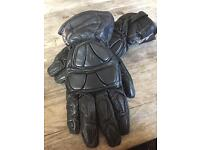 RST Men's leather motorcycle gloves