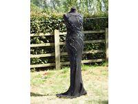 UK Size 12 YVE LONDON Beautiful Black Formal Dress Stunning Beaded Details