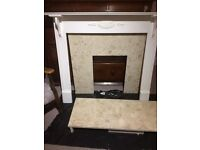 Fireplace Surround and Marble inlay and hearth
