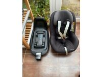 Maxi cosi 2 way pearl child car seat for 6 months to 4 years.