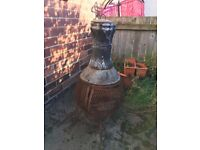 Metal Garden Firepit Chiminea Chimney Heater Fire Pit Party Cool Medium Large Outdoor Wood Patio