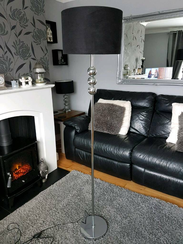 Chrome floor standing lamp in morley west yorkshire gumtree chrome floor standing lamp mozeypictures Choice Image