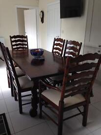 Barker Stonehouse Table and six chairs