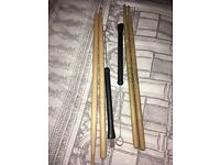 Percussion sticks and brushes