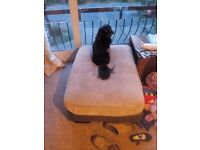 3 seat sofa and corner unit and footstool brown 7 years old from scs
