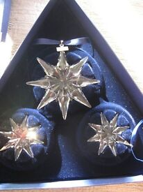 Swarovski 2009 Christmas Star set