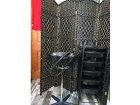 Hairdressers trolley, portable basin and screen!