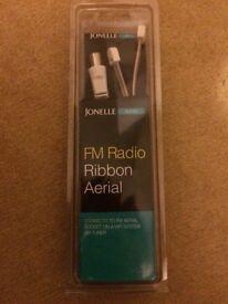 FM radio ribbon aerial
