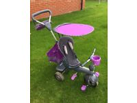 Smart trike. Children's multi use push and pedal