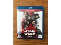 The Last Jedi Blu Ray 2D Disc and Bonus disc ONLY (NOT 3D Disc)