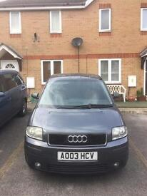 Audi a2 great little car full years mot and full leather interior