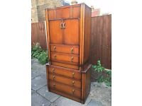 Beautiful old Antique drawers storage vintage retro CHEAP CLEARANCE