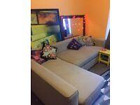 Corner sofa bed, lots of storage