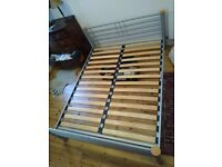 Dreams bedframe with wooden slats & ortosoft mattress. Must go this week.