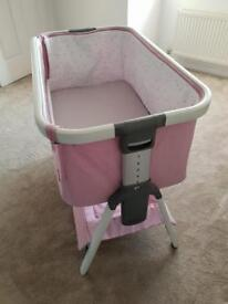 Tutti Cozee cot bedside crib (pink)