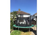 Free large garden trampoline with safety netting - collector dismantles