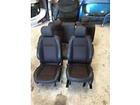 Vauxhall Astra gtc half leather interior for 2 door car