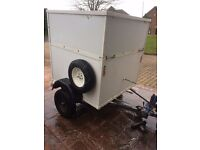 Box trailer With Ramp & Lift Up Lid