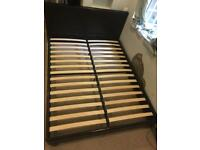 Leather Bed Frame Metallic king size (Must go!)
