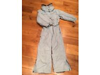Girl's all in one ski suit age 8 worn but excellent condition-virtually as new