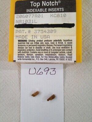 7 New Kennametal Nr 1031l Top Notch Carbide Inserts Grade Kc810. Usa Made U693