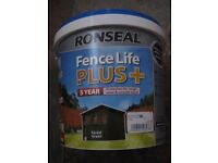 NEW - Ronseal Fence Life Plus - 5 L Fence & Shed Wood Stain - Forest Green