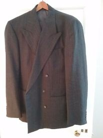 """Tailored wool double breasted suit by Next, would fit 6'2""""+ man"""