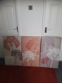 Three large Next Canvases, perfect condition.