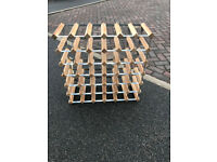 Wood and metal Wine Rack for 42 Bottles (Habitat)