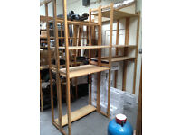 Shelving racking wooden for warehouse storage industrial shelves