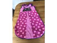 Baby girl sleeping bag 6-12 months 2.5 tog