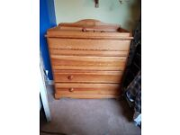 Free wardrobe/chest of drawers (NEED GONE ASAP)
