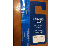 2 x Radio 1 Big weekend Saturday travel wristbands and secure parking from Leconfield