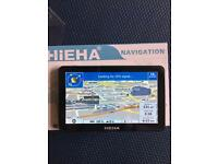 Hieha 7in Car/Truck GPS - UK/Europe/Canada maps preloaded - almost new
