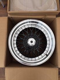 "BBS RS style brand new Alloy wheels 16"" inch x 9j BMW Toyota jetta mazda honda 4x100 5x100 alloys"