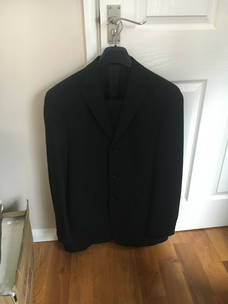 "79ad1e4b9 Next men s black suit. 32"" trouser. Jacket 40""L. Letchworth Garden City ..."