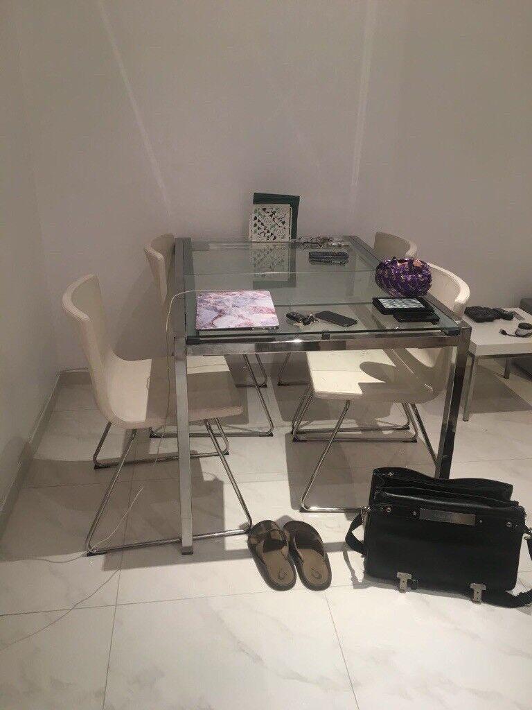 Ikea gilvarp/Tobias kitchen table and 6 chairs