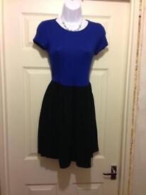 Blue and Black T-Shirt Dress from New Look