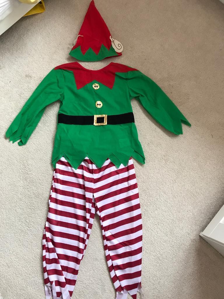Age 6-8 elf costume NEW
