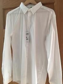 BNWT Benetton White Shirt XXL Slim fit